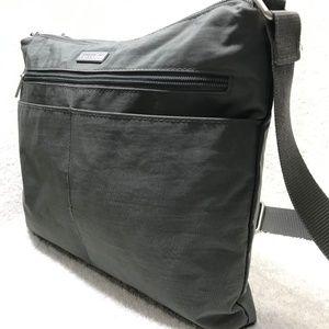 Baggallini Gray Nylon Crossbody Organizer Bag